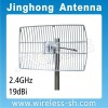 2.4GHz Grid and parabolic antenna for WiFi WiMAX (JHG-2425-19)