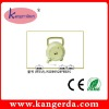 2 WAY 6P4C BEIGE COLOR COIL TELEPHONE CABLE EXTENSION REEL