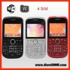 2011 Hot sale 4 sim TV wifi phone K66