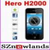 2011 New Celular H2000 Google Android 2.2 Smart Cellphone Dual Sim Cellphone with 3.5 inch Capacitive Touch Screen WIFI TV GPS