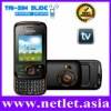 2011 Newest Qwerty Slide Three Sim TV Mobile Phone