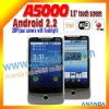 2011 dual sim android smart phone A5000
