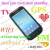 2011 new  dual sim android gps mobile phone tv  gps G14 phone