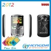2012 4 sim 4 standby mobile phone 9900