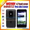 2012 New Arrival! WCDMA Dual SIM Card Mobile Phone WG1101 Capacitive WiFi 3G Mobile Phone