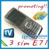 2012 South America best-selling 3 sim tv mobile phone e71