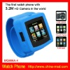 2012 cool design Touching Screen Mobile Phone Watch for iphone with Bluetooth