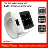 2012 cool design christmas item Watch phone with Bluetooth