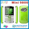 2012 mini 9800 3 sim mobile phone