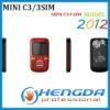 2012 mini c3 phone