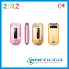 2012 mobile phone large screen flip q9