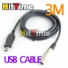 2Pcs/lot 3M Microphone USB MIC Link Cable USB Male to XLR Female Free AIR Mail ONLY