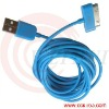 2m/6ft 3m/10ft Blue Data USB cable for Iphone 4g/4gs/Ipad/Ipad2/ipod