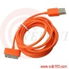 2m/6ft 3m/10ft Orange Data USB cable for Iphone 4g/4gs/Ipad/Ipad2/ipod
