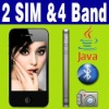 "3.2""Dual SIM Dual Standby Camera Java Phone Unlocked"
