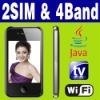 "3.2"" Dual SIM Dual Standby Java TV WIFI android Phone Unlocked"