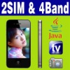 "3.2""Dual SIM Dual Standby MP4 FM Java TV Unlock phone"