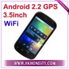 "3.5""Dual sim card gsm gps android2.2 phone"