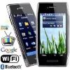 "3.5"" WQVGA touchscreen unlocked Bar Phone dual sim with wifi tv TWX7"