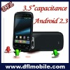 3.5ihch capacitive screen dual sim MT6573 650Mhz + MT6620(BT+FM+GPS+WIFI)+MT6162 wifi GPS Android2.3 smart mboile phone
