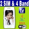 "3.6"" Dual SIM Dual Standby 2 camera Java Wifi TV cellphone"