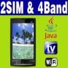 "3.6"" Dual SIM Dual Standby 2 camera Java Wifi TV cellphone"