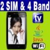 """3.6"""" Dual SIM Dual Standby 2 camera Java Wifi TV phone"""