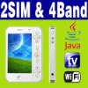"3.6"" Dual SIM Dual Standby 2 camera Java Wifi TV phone"