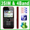 3 SIM Triple 3 Standby TV Cell phone Unlock MSN Yahoo