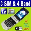 3 SIM Triple 3 Standby TV Java WIFI Mobile phone Unlock