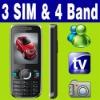 3 SIM Triple 3 Standby TV Mobie phone Unlock MSN
