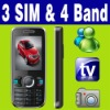 3 SIM Triple 3 Standby TV Mobile phone Unlock MSN