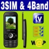 3 SIM & Triple 3 Standby TV Slide mobile phone Unlocked