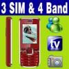 3 SIM Triple 3 Standby TV Unlocked cell phone MSN