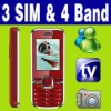 3 SIM Triple 3 Standby TV Unlocked cell phone MSN