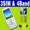 3 SIM & Triple 3 Standby TV cell phone Unlocked