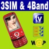 3 SIM & Triple 3 Standby TV mobile phone Unlocked