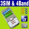 3 SIM Triple 3 standby MP3 MP4 TV  cellphone Unlocked