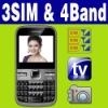 3 SIM Triple 3 standby MP3 MP4 TV smart cellphone Unlocked