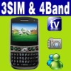 3 SIM Triple standby MP3 MP4 TV MSN Mobile phone Unlock