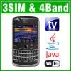 3 SIM card & Triple Standby Java Wifi TV Mobile phone