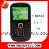 3 sim TV gsm mobile phone