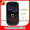 3 sim TV gsm mobile phones MAX-S8