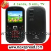 3 sim TV qwerty mobile phones MAX-S8+