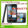 """4.1"""" capacitive WCDMA 3G Android 2.3 GPS wifi TV MTK6573 phone"""