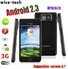 4.1'' capacitive touch screen Android 2.3 512MB RAM Wifi Android market i9100 cell phone