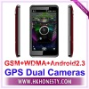 "4.3"" Touch Screen Android 2.3 WCDMA+GSM GPS Smart Phone DH7"