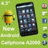 4.3'' android2.2 Jave 2 Sim GPS Smartphone A2000