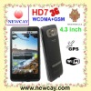 4.3 inch 3G Android phone HD7 with Android 2.3 OS