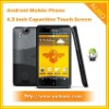 4.3 inch Capacitive Screen WCDMA 3G Android 2.3 WIFI TV Mobile Phone